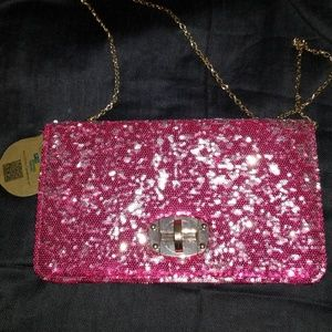 sequence hot pink urban expressions clutch